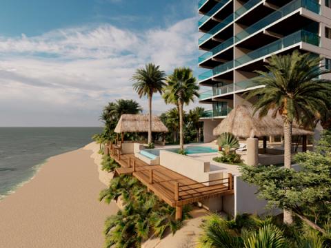 playa yucatan proyectica render depto