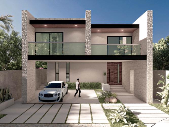 tamara casa render fachada arquitectura proyectica