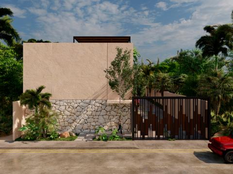 townhouse vivienda playa proyectica render yucatan proyectica